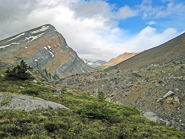 Scenery from the Nigel Pass hike along Icefields Parkway, the Canadian Rockies