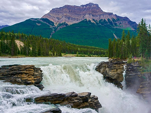 Trail of the Athabasca Falls hike in Jasper National Park