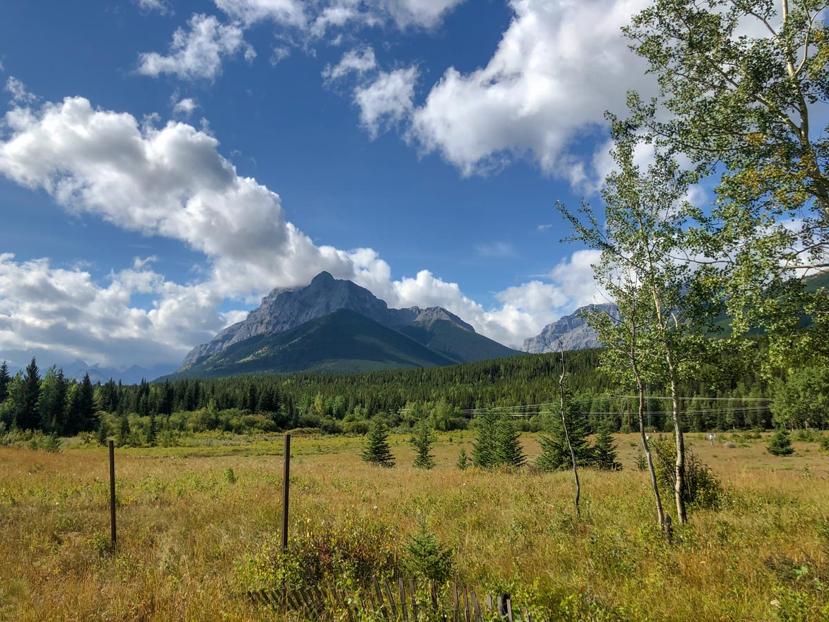 Views from Hay Meadow on the Troll Falls Hike in Kananaskis, near Canmore