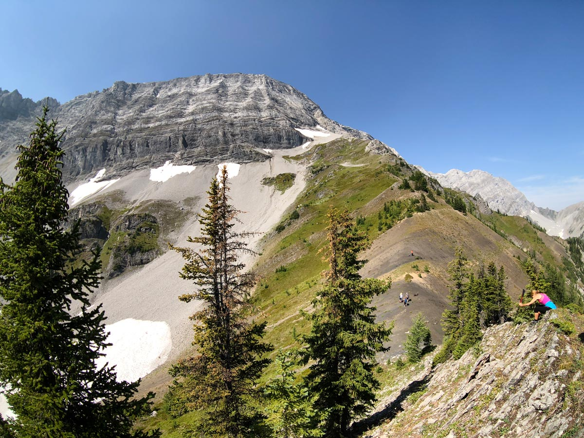 Views along the ridge on the Black Prince Lakes and Cirque Hike near Smith-Dorrien Trail in Kananaskis, near Canmore