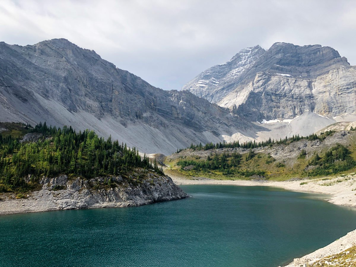 Stunning Lower Galatea Lake on the Lillian and Galatea Lakes Hike in Kananaskis, near Canmore