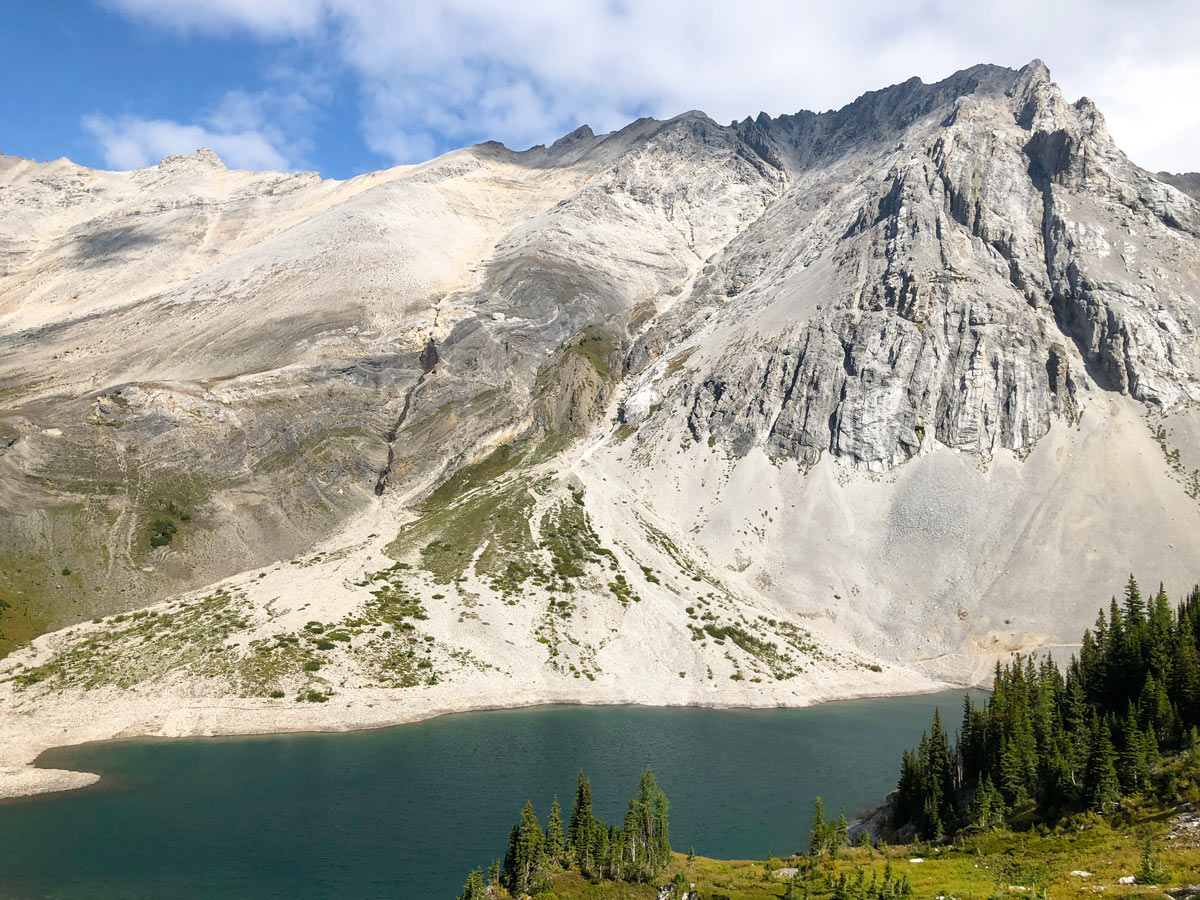 Hiking on Lillian and Galatea Lakes trail in Kananaskis, near Canmore