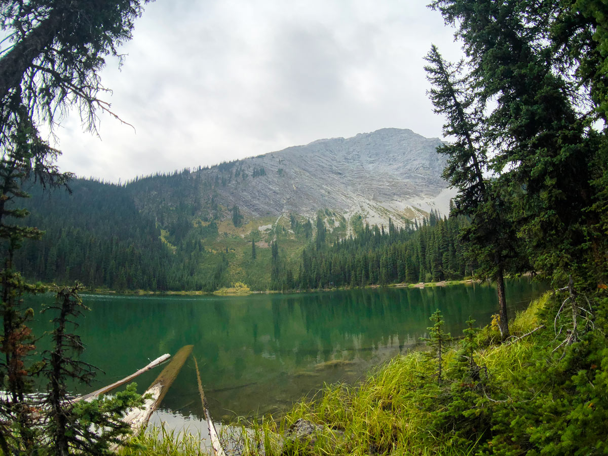 View of the Lillian Lake on the Guinn's Pass Hike in Kananaskis, near Canmore