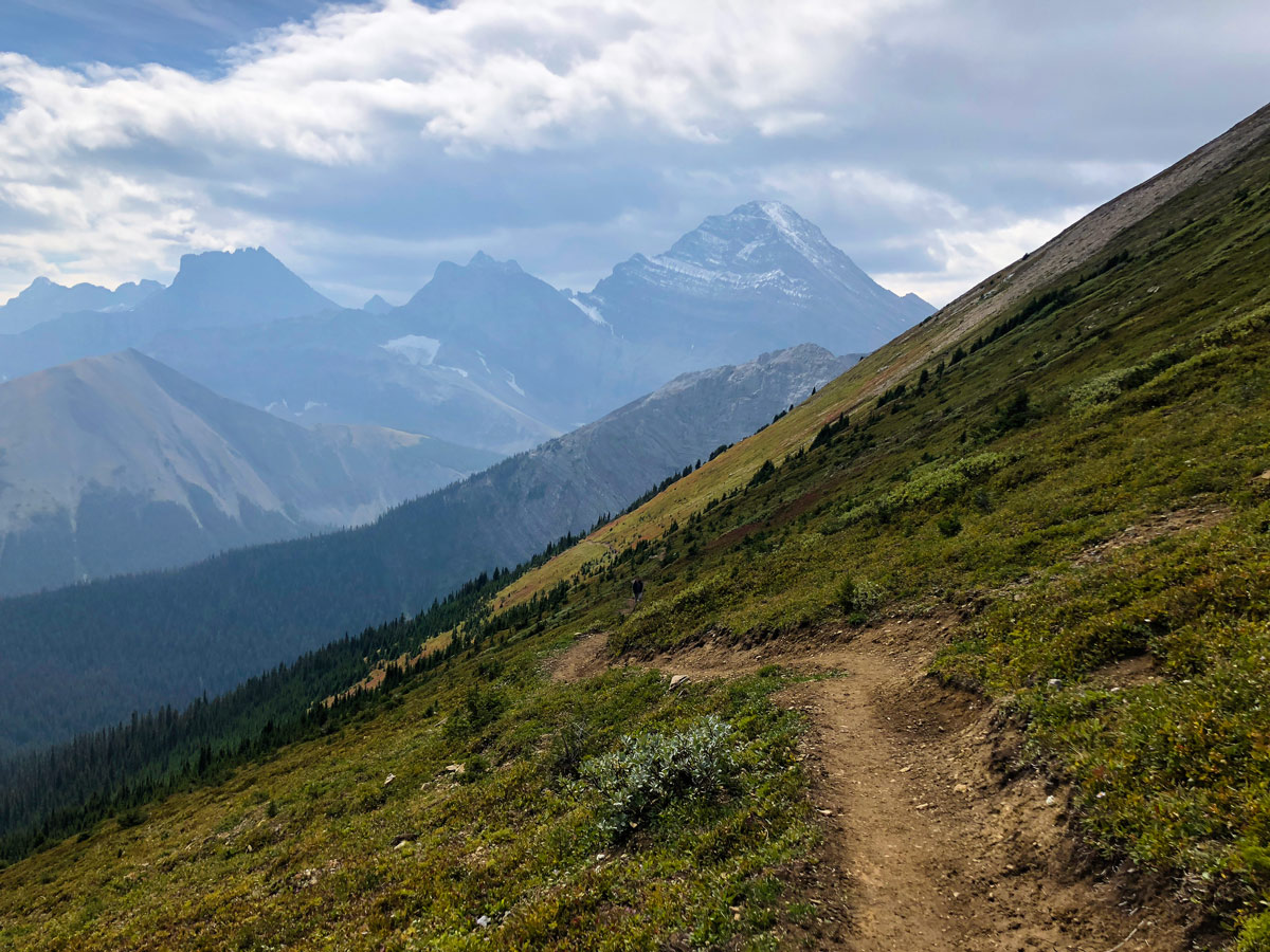 Trail of the Guinn's Pass Hike in Kananaskis, near Canmore