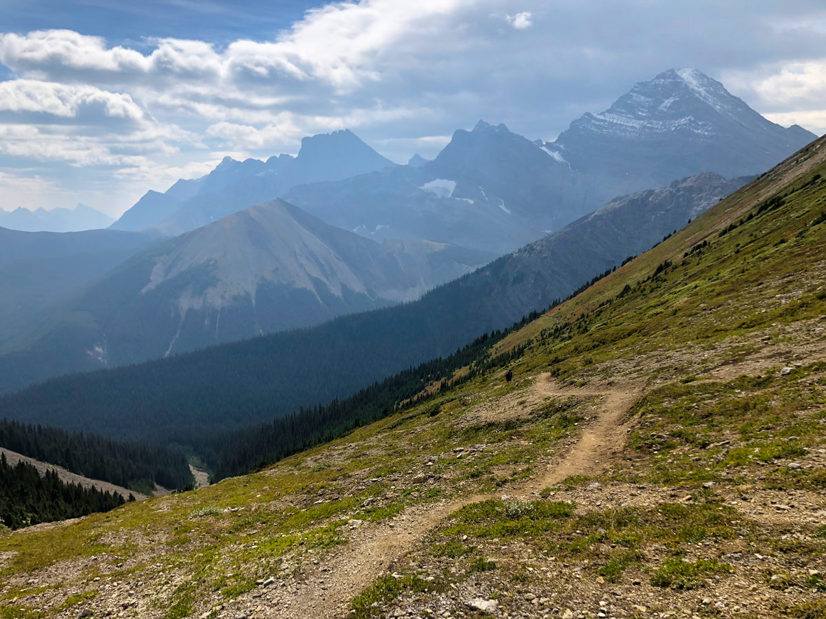 The new trail of the Guinn's Pass Hike in Kananaskis, near Canmore