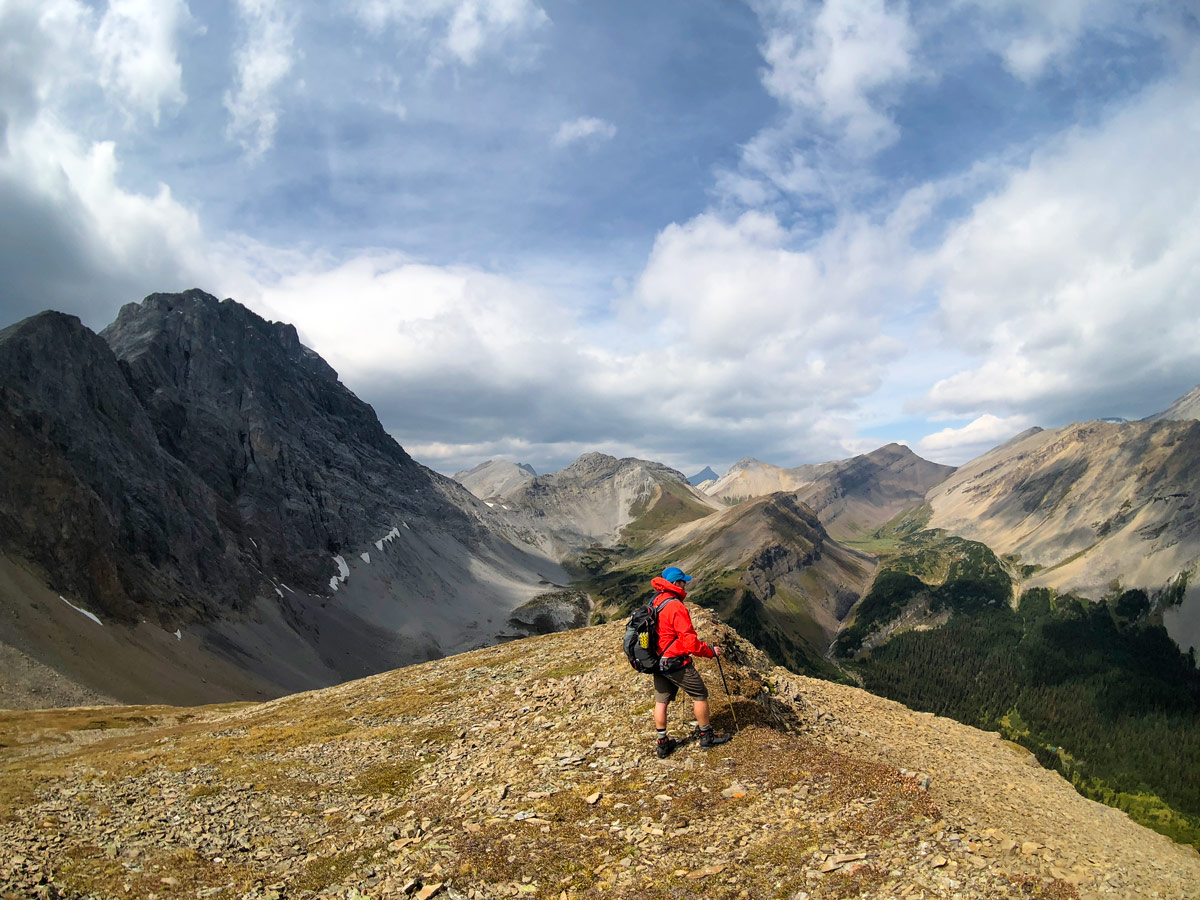 Panorama from the Guinn's Pass Hike in Kananaskis, near Canmore