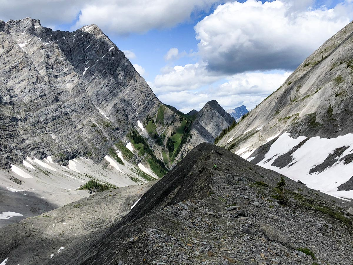 Pretty views of the Old Goat Glacier Hike near Smith-Dorrien Trail in Kananaskis, near Canmore
