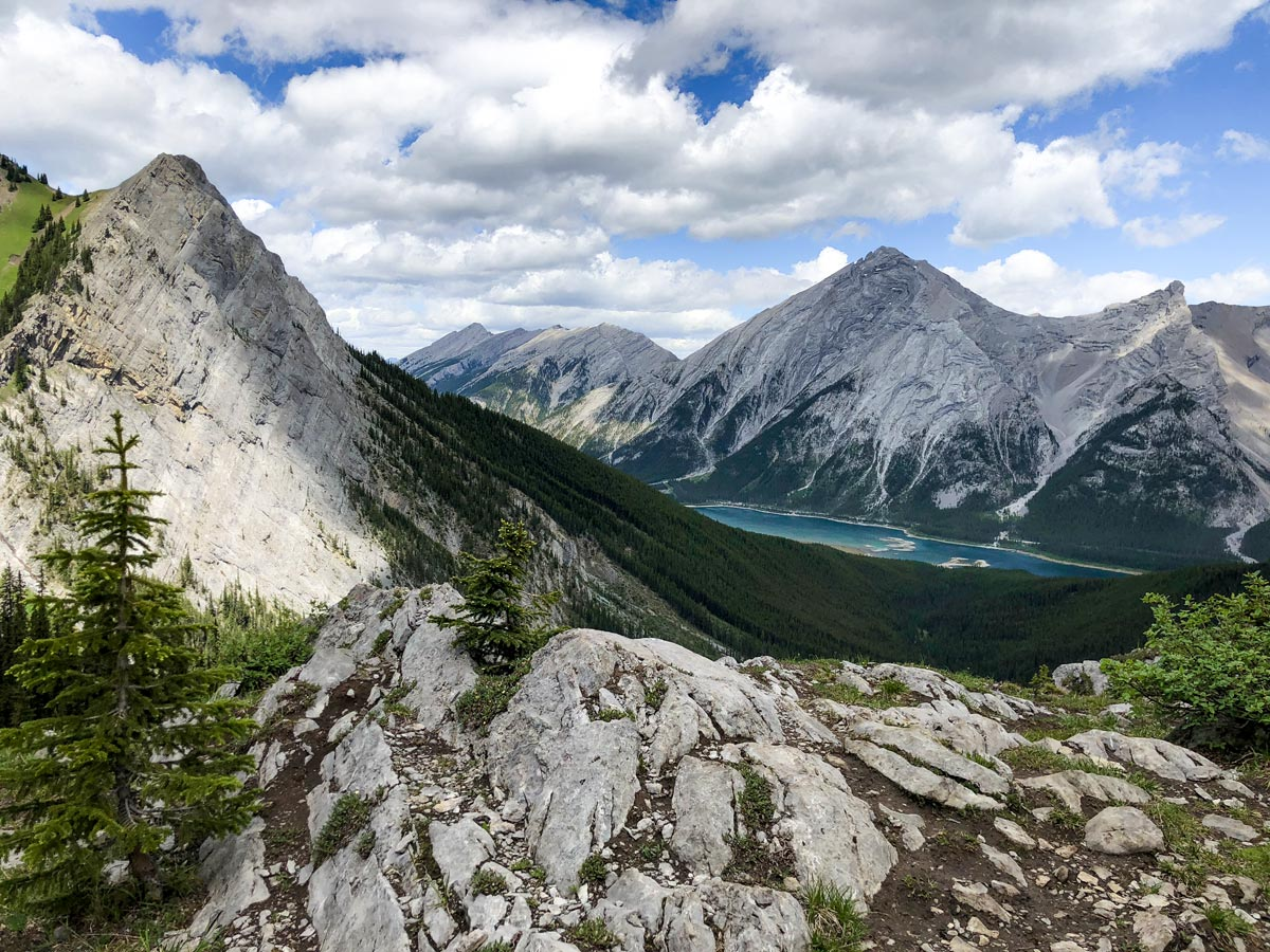 View of Spray Lakes on the Old Goat Glacier Hike near Smith-Dorrien Trail in Kananaskis, near Canmore