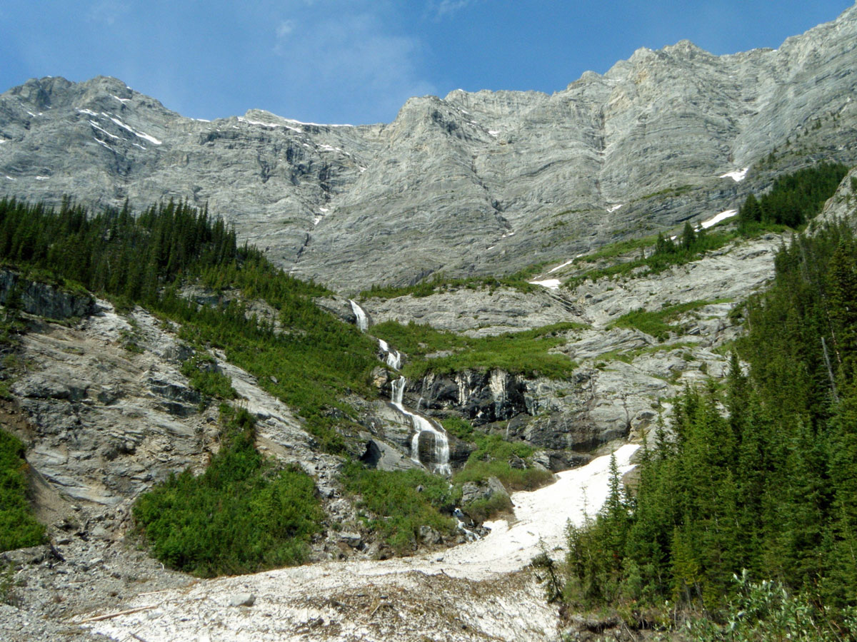 Old Goat Glacier hike is one of top 10 hikes on the Smith-Dorrien Trail