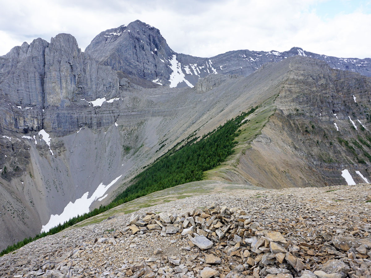 Views from the weather station on the Tent Ridge Horseshoe Hike near Smith-Dorrien Trail in Kananaskis, near Canmore
