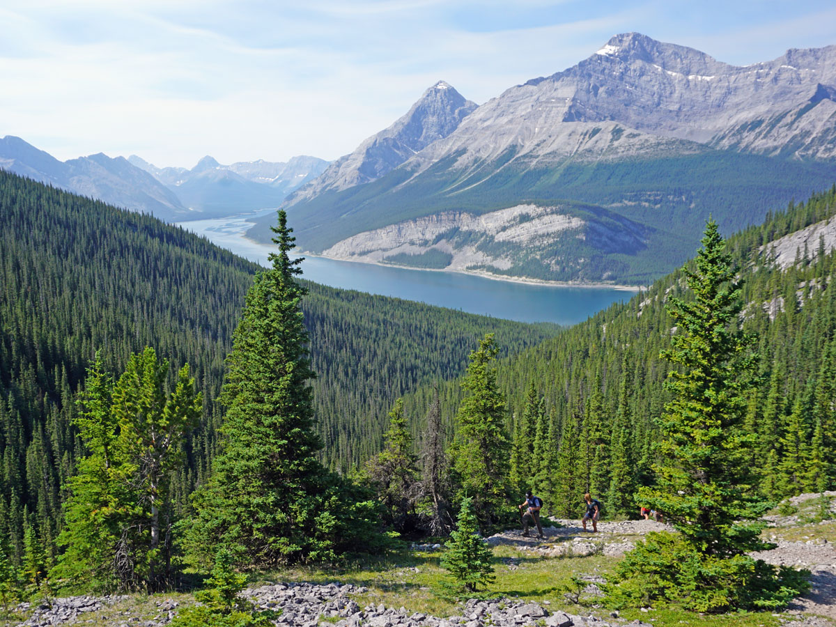 Spray Lakes Reservoir from the West Wind Pass Hike near Smith-Dorrien Trail in Kananaskis, near Canmore