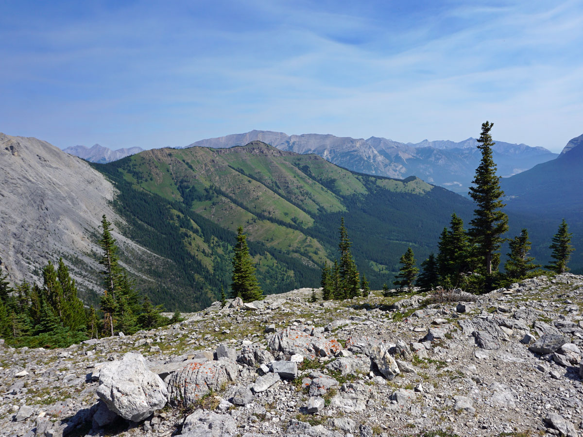 Views east from the West Wind Pass Hike near Smith-Dorrien Trail in Kananaskis, near Canmore