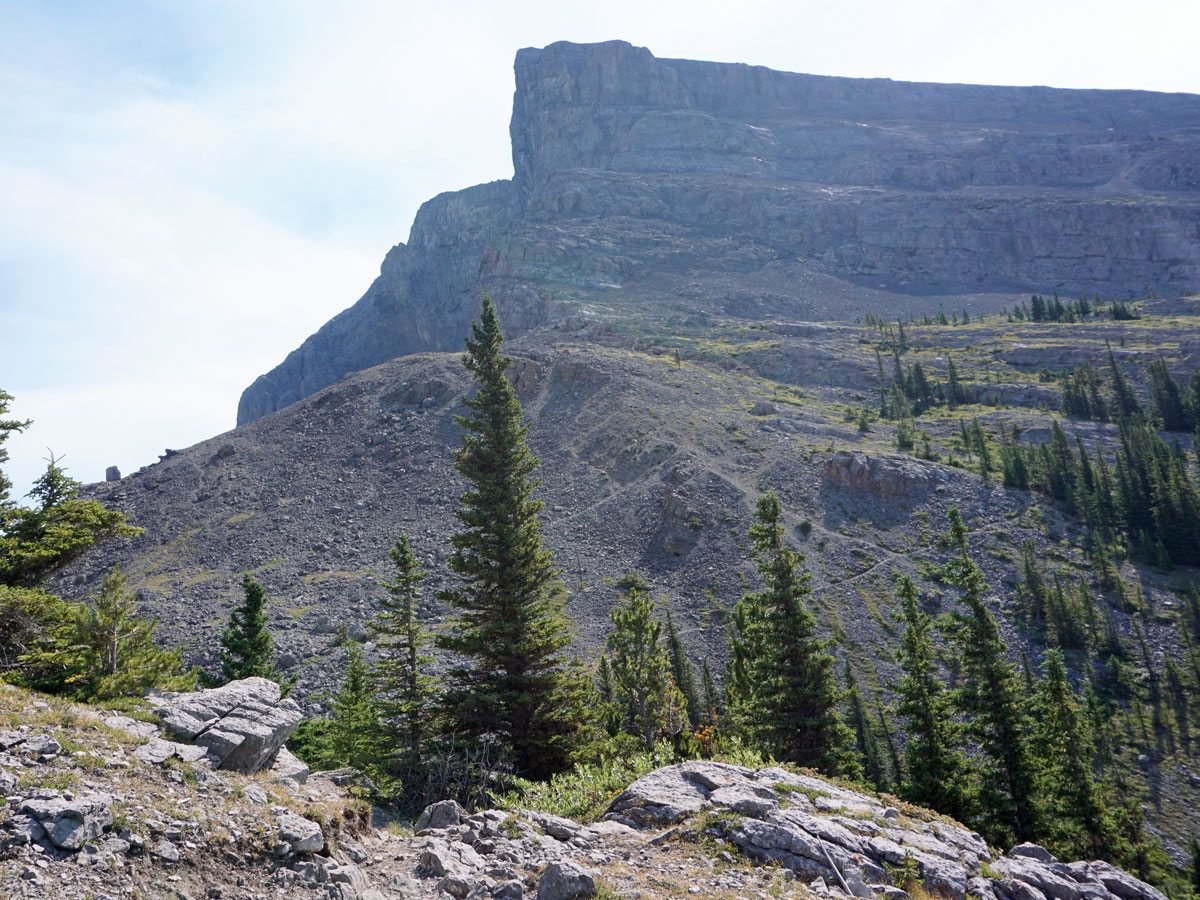 Views over the mountain on the Windtower Hike near Smith-Dorrien Trail in Kananaskis, near Canmore