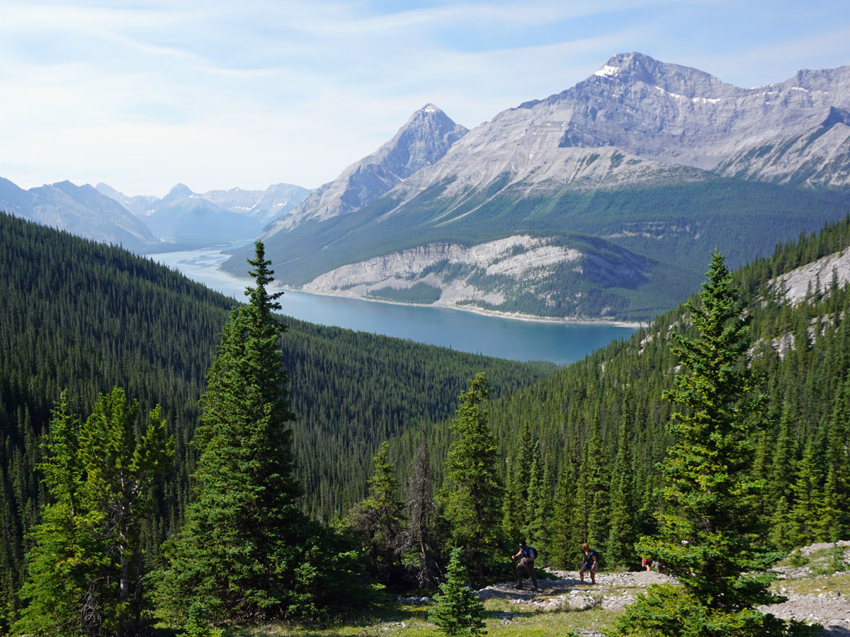 View of the Spray Lakes Reservoir on the Windtower Hike near Smith-Dorrien Trail in Kananaskis, near Canmore