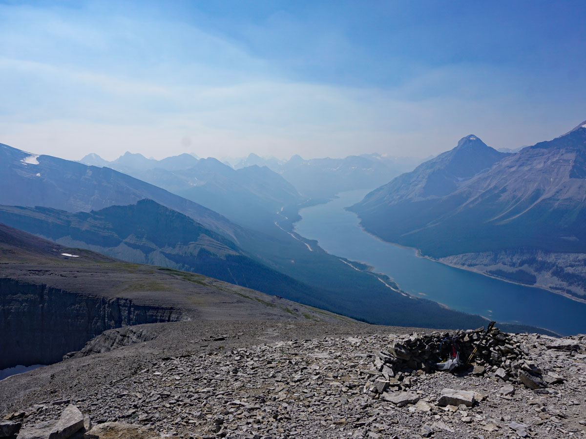 Summit of the Windtower Hike near Smith-Dorrien Trail in Kananaskis, near Canmore