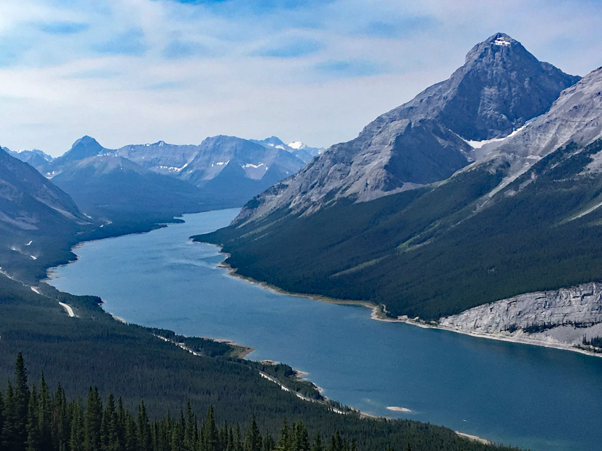 Beautiful views from the Windtower Hike near Smith-Dorrien Trail in Kananaskis, near Canmore