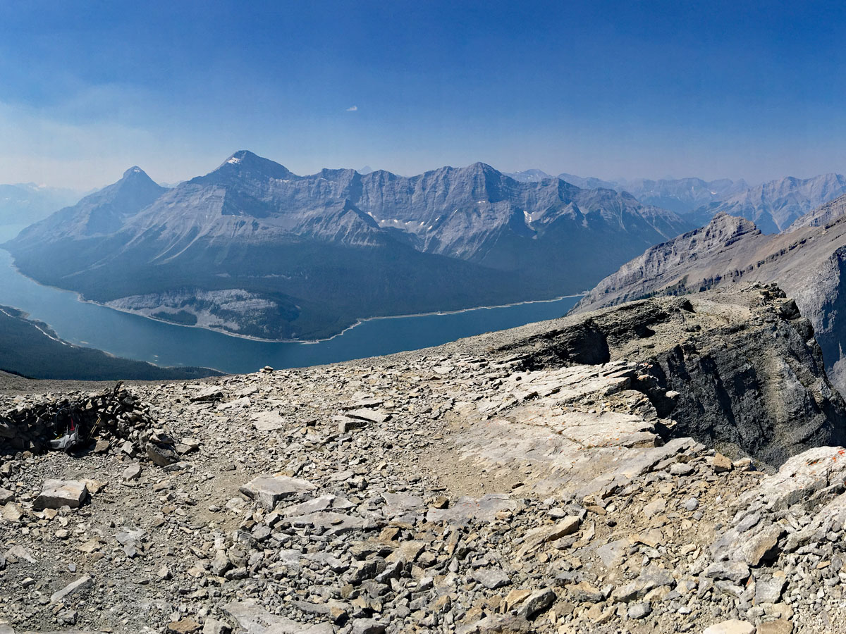View from the top of the Windtower Hike near Smith-Dorrien Trail in Kananaskis, near Canmore