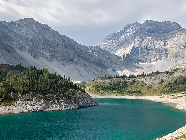 Scenery from the Lillian and Galatea Lakes hike from Kananaskis near Canmore