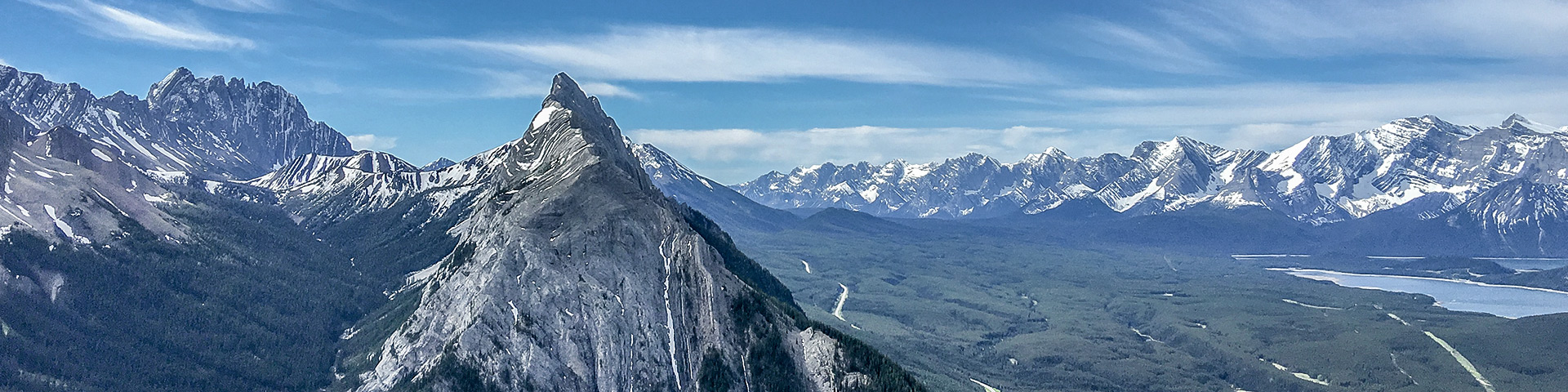 Panorama of the King Creek Ridge hike from Kananaskis near Canmore