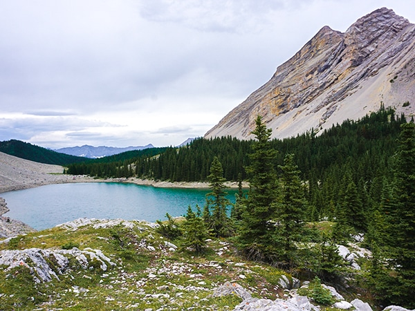 Scenic views from the Picklejar Lakes hike in Kananaskis County, near Canmore