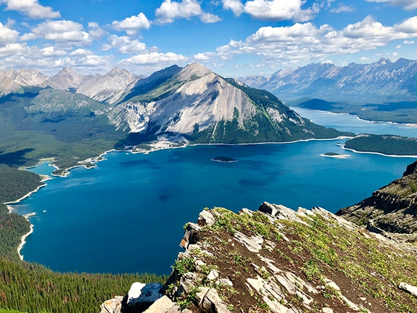 Scenery from the Sarrail Ridge via Rawson Lake hike in Kananaskis, the Canadian Rockies