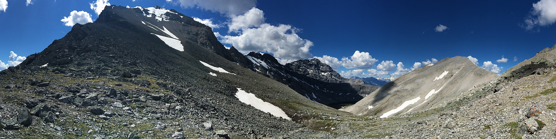 Panorama from the Buller Pass hike from Smith-Dorrien Trail in Kananaskis near Canmore