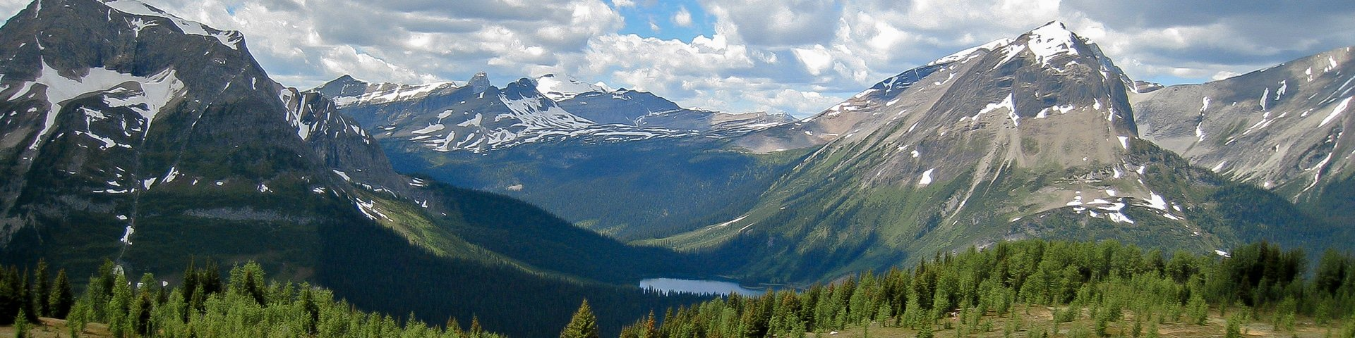 Panorama from the Burstall Pass hike from Smith-Dorrien Trail in Kananaskis near Canmore