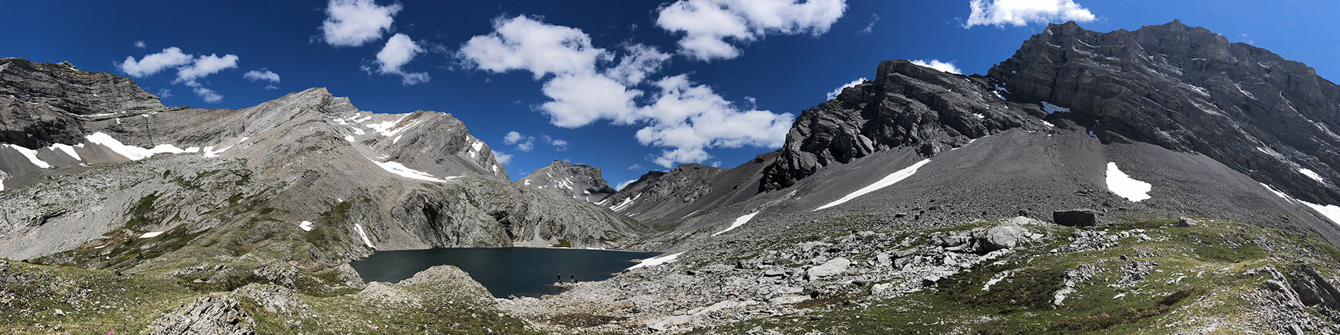 Panorama from the Headwall Lakes hike from Smith-Dorrien Trail in Kananaskis near Canmore