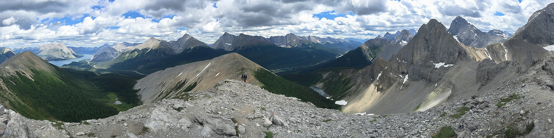Panorama from the Tent Ridge Horseshoe hike from Smith-Dorrien Trail in Kananaskis near Canmore