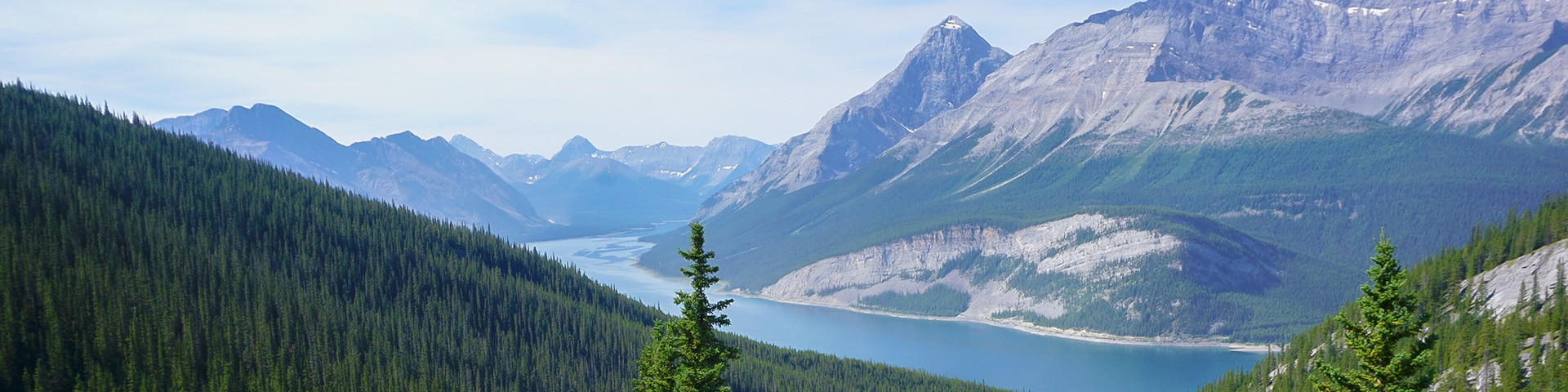 Panorama of the West Wind Pass hike from Smith-Dorrien Trail in Kananaskis near Canmore