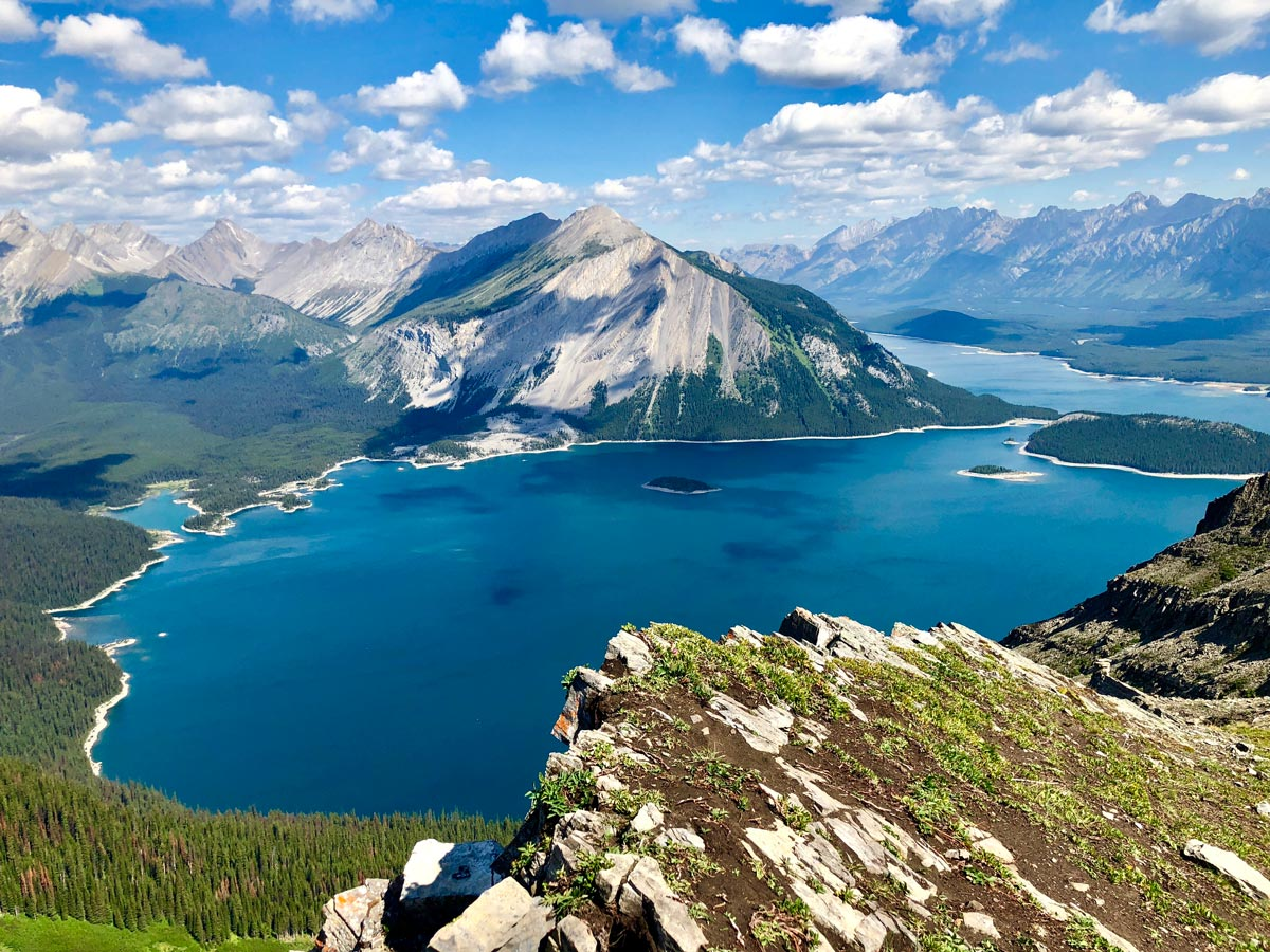 View from the top of the Sarrail Ridge via Rawson Lake Hike in Kananaskis, near Canmore