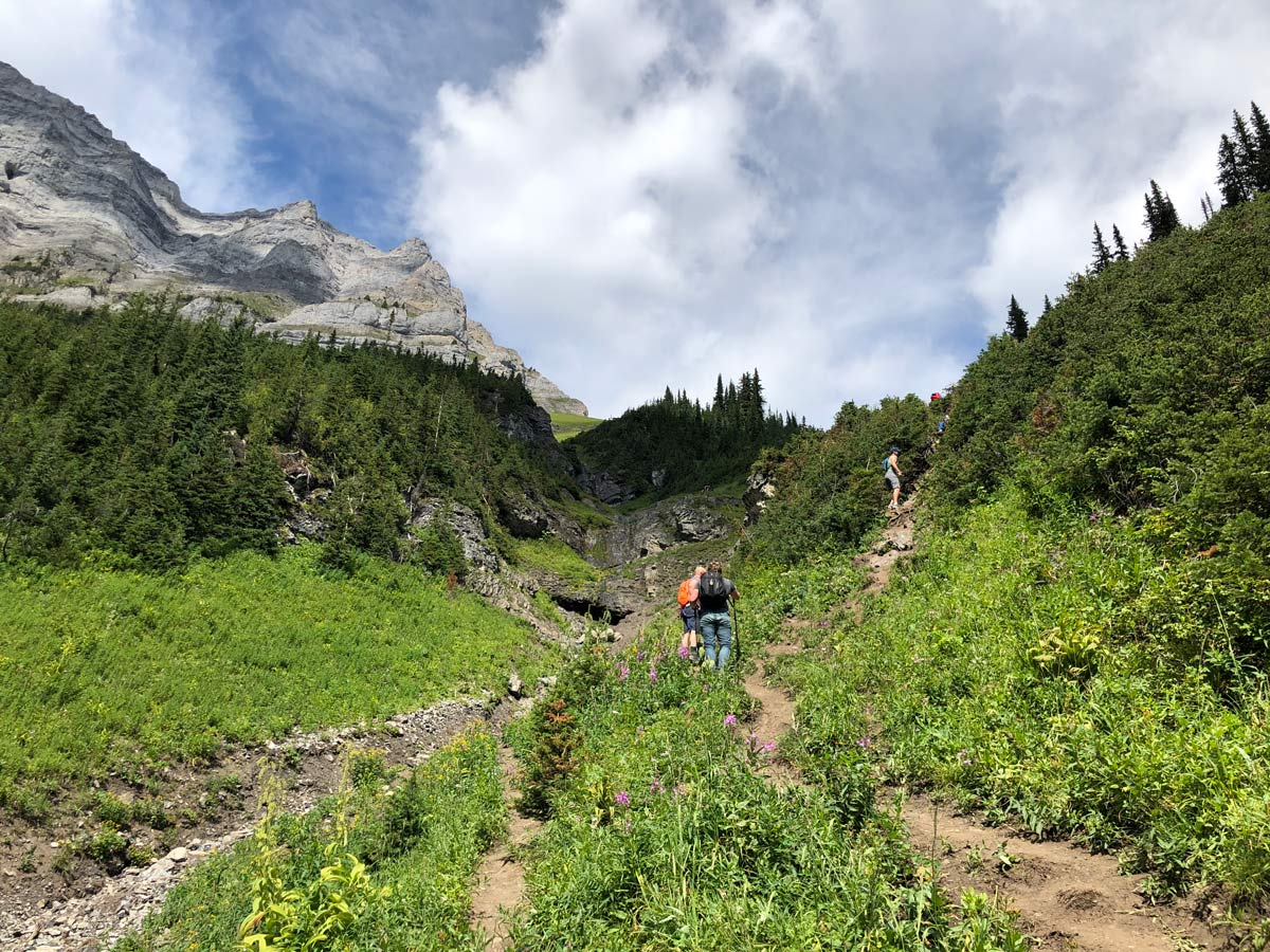 Challenging part of the Sarrail Ridge via Rawson Lake Hike in Kananaskis, near Canmore