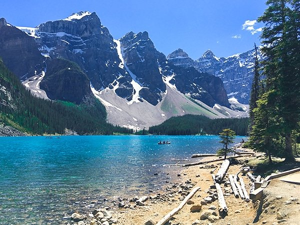 Moraine Lake Rockpile and Lakeshore