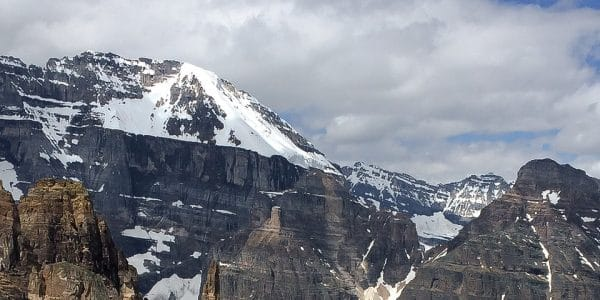 Panorama from the Paradise Valley Circuit hike in Lake Louise, Banff National Park, Alberta
