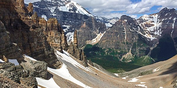 Trail of the Paradise Valley Circuit hike in Lake Louise, Banff National Park, Alberta
