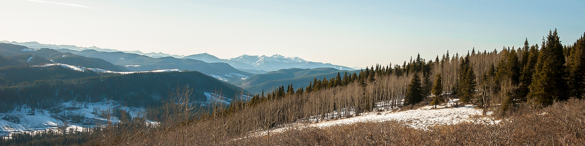 Panorama from the Mesa Butte hike in Bragg Creek, Kananaskis near Canmore