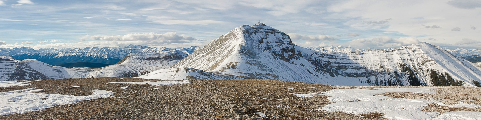 Panorama from the Moose Mountain hike near Kananaskis and Canmore
