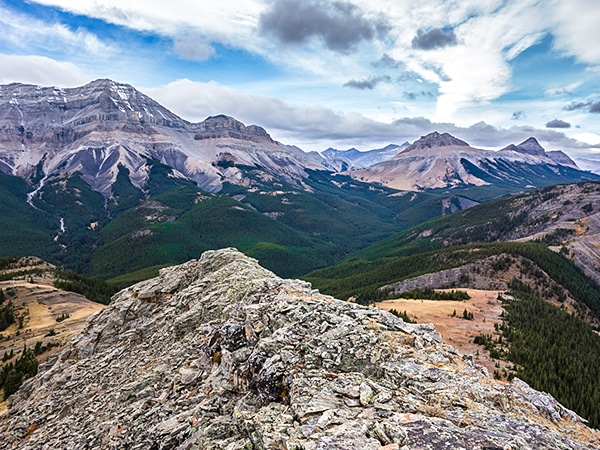 Scenery from the Mount Ware hike near Kananaskis and Canmore