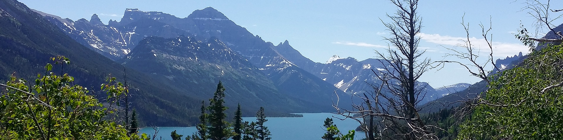 Panoramic views from the Bertha Lake and Falls hike in Waterton Lakes National Park, Canada