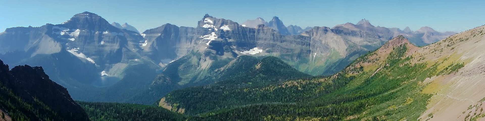 Panoramic views from the Carthew - Alderson hike in Waterton Lakes National Park, Canada