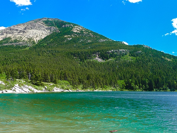 Crandell Lake hike in Waterton Lakes National Park has amazing scenery