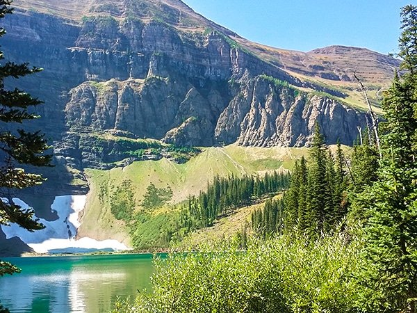 Scenery of the Wall Lake hike in Waterton Lakes National Park, Canada