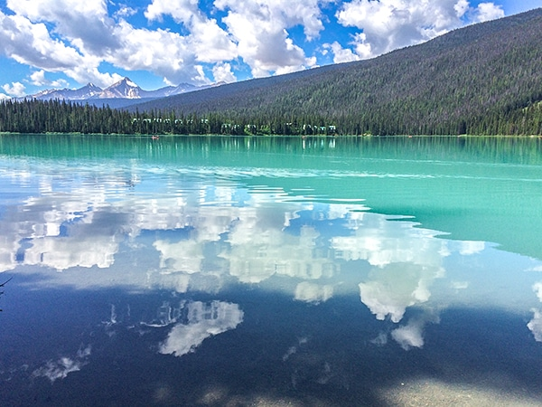 Scenery from the Emerald Lake Circuit hike in Yoho National Park