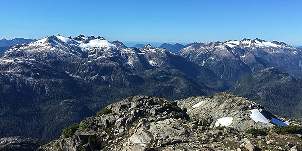 Trail of the Mt Myra hike in Strathcona Provincial Park, Vancouver Island