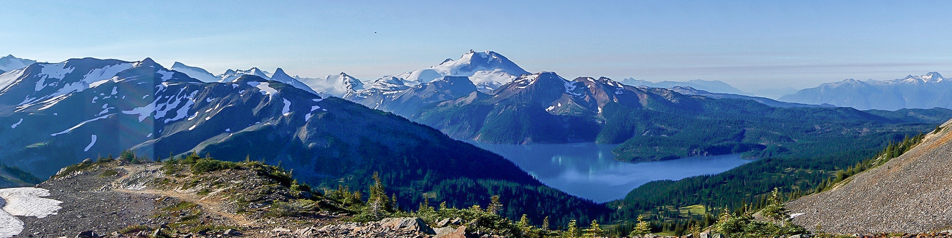 Panoramic views from the Black Tusk hike in Whistler, British Columbia