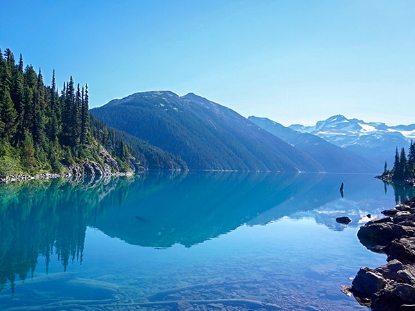 Trail of the Garibaldi Lake hike in Whistler, British Columbia