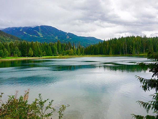 Scenery from the Lost Lake hike in Whistler, British Columbia