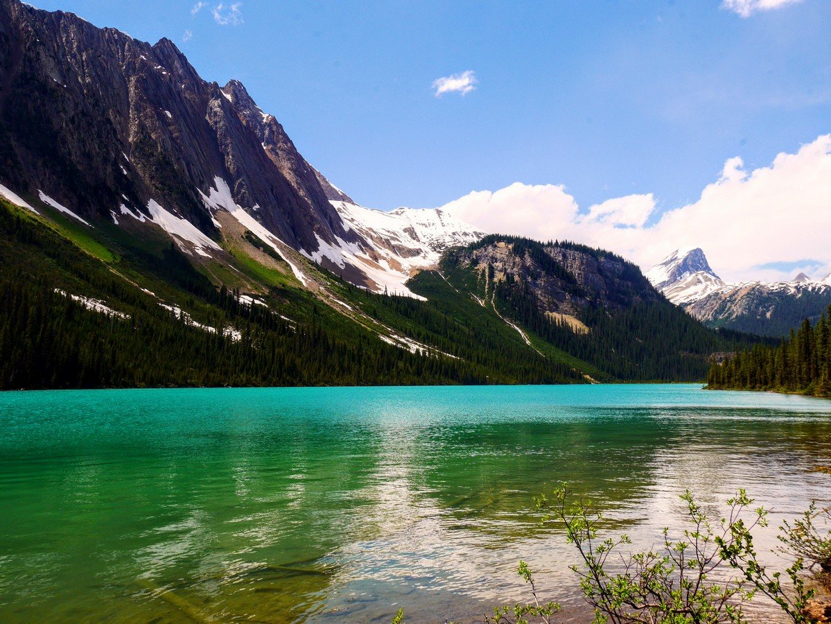 Sherbrooke Lake, Mt Ogden and Mt Niles from the Paget Lookout & Sherbrooke Lake Hike in Yoho National Park, Canada