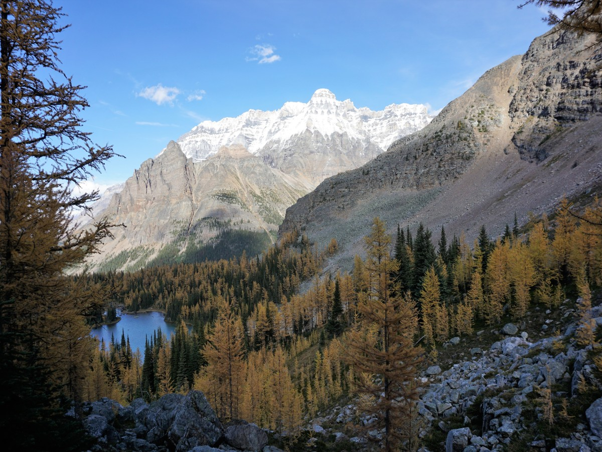 Views of the valley on the Lake McArthur Hike in Yoho National Park, Canada