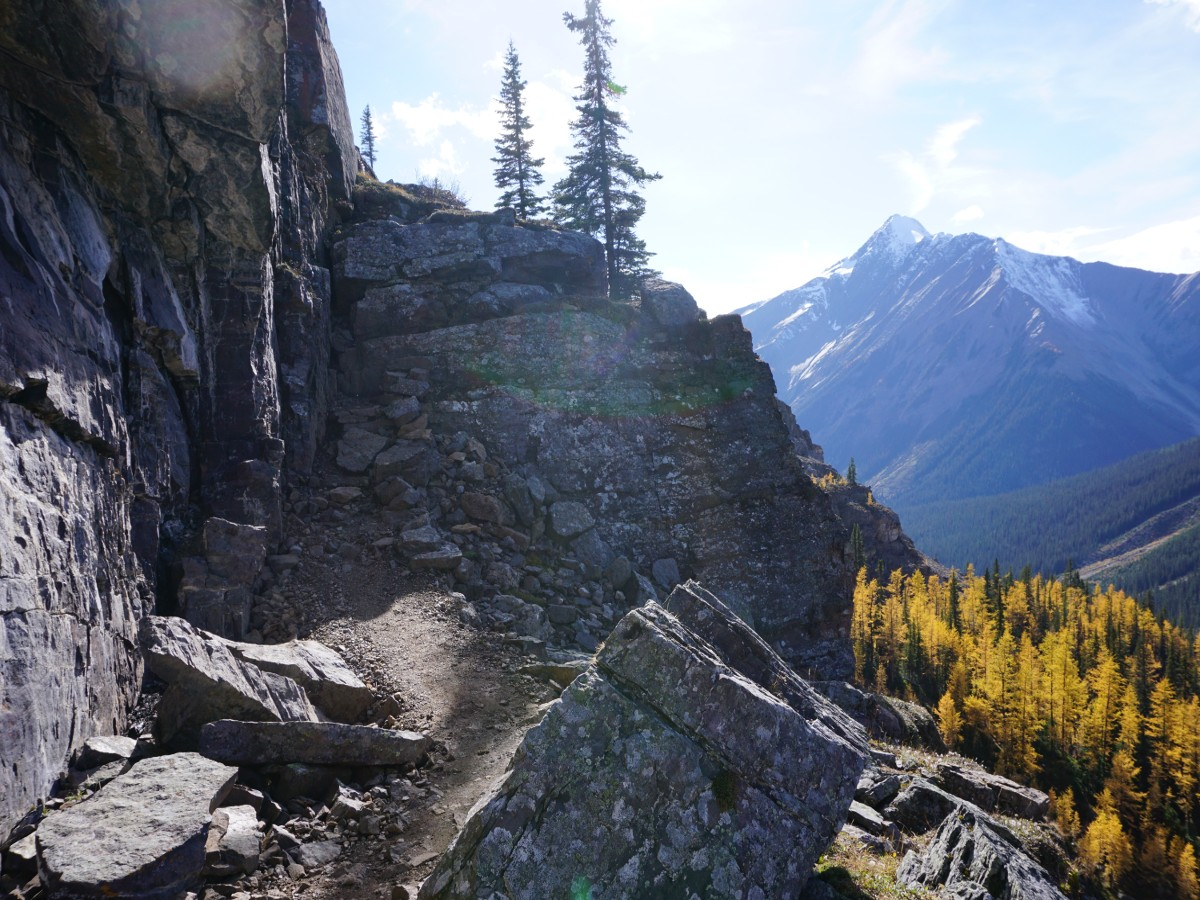 Scrambly part of the Lake McArthur Hike in Yoho National Park, Canada